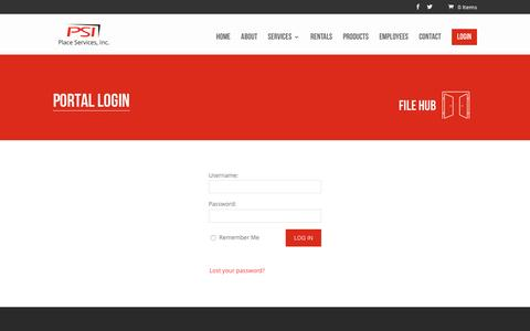 Screenshot of Login Page placeservicesinc.com - Login Page | Place Services, Inc. - captured May 18, 2017