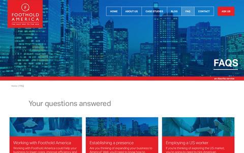 Screenshot of FAQ Page footholdamerica.com - FAQ Archive - Foothold America : Foothold America - captured June 6, 2017