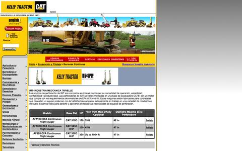 Screenshot of Landing Page kellytractor.com - Kelly Tractor: Barrenas Continuas - captured Aug. 12, 2016