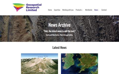 Screenshot of Press Page geospatial-research.com - News – Geospatial Research - captured Nov. 5, 2016