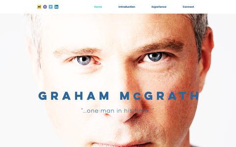 Screenshot of Home Page grahammcgrath.com - Actor | Director | Graham McGrath | grahammcgrath - captured Sept. 30, 2018