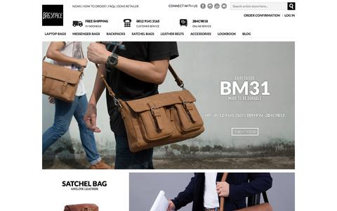 Screenshot of Home Page bagspace.co - Bagspace : Leather Bags for Every Man | Home page - captured Jan. 16, 2016