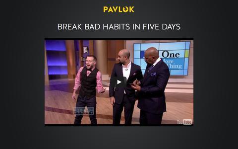 Screenshot of Home Page pavlok.com - Pavlok --- Break Bad Habits in Five Days - captured Jan. 29, 2016