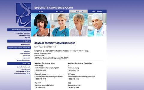 Screenshot of Contact Page specialtycommerce.com - Specialty Commerce Corporation - Contact Us - captured Jan. 16, 2016