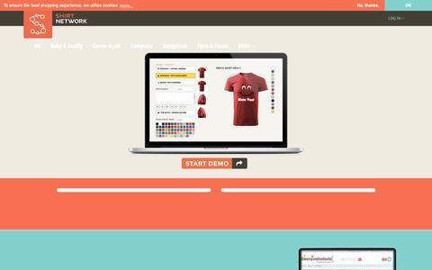 Screenshot of Home Page shirtnetwork.de - OXID eShop 4 | Online Shop - captured Oct. 14, 2018