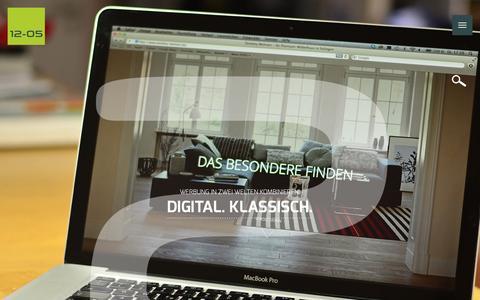Screenshot of Home Page 12-05.de - Werbeagentur in Solingen – 12-05 – Webdesign & Online-Marketing - captured Feb. 3, 2016