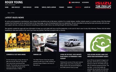 Screenshot of Press Page rogeryoung-isuzu.co.uk - New Isuzu  | Saltash | Roger Young - captured July 2, 2016