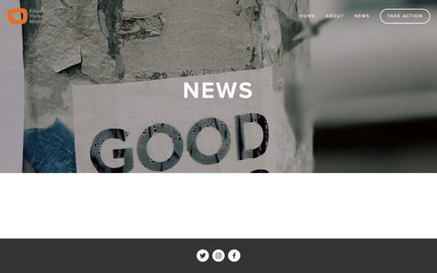 Screenshot of Press Page educationthroughmedia.org - News — Education Through Media - captured Jan. 26, 2018