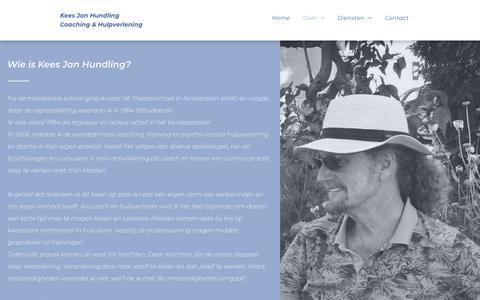 Screenshot of About Page keesjanhundling.nl - Kees Jan Hundling Coaching & Hulpverlening - captured Oct. 18, 2018