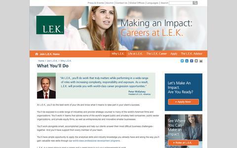 Your Role at L.E.K.   L.E.K. Consulting