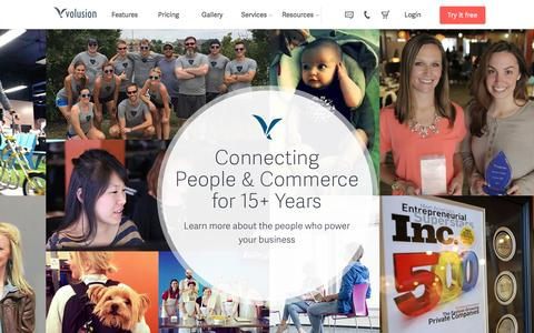 Screenshot of About Page volusion.com - Volusion History | 15+ Years of eCommerce Business Software - captured May 13, 2016
