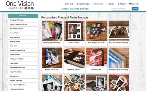 Screenshot of Products Page onevisionimaging.com - Products - captured Oct. 20, 2018