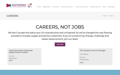 Screenshot of Jobs Page thematworks.com - Careers - The MatworksThe Matworks - captured Oct. 18, 2018
