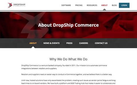 Screenshot of About Page dropship.com - About | Dropship Commerce - captured Feb. 9, 2016