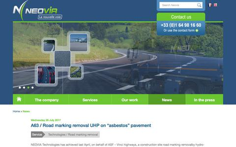 Screenshot of Press Page neovia-tp.fr - News - Neovia - captured Oct. 20, 2017