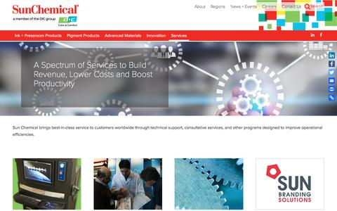 A Spectrum of Services to Build Revenue, Lower Costs and Boost Productivity | Sun Chemical