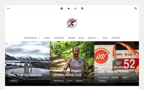 Screenshot of Home Page run-passion.pl - runpassion - RUN - Passion - captured July 11, 2018