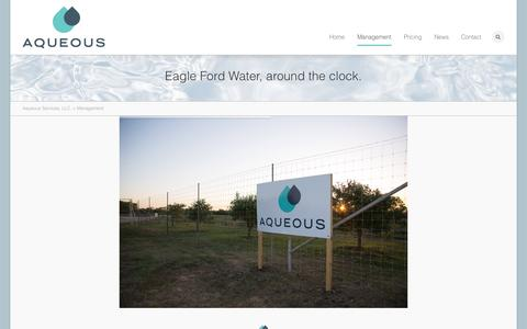 Screenshot of Team Page aqueousservices.com - Aqueous Services, LLC. | Management - captured Oct. 4, 2014