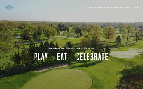 Screenshot of Home Page silverlakecc.com - Silver Lake Golf Course, Wedding and Events  - Chicago, Orland Park - captured Oct. 20, 2018