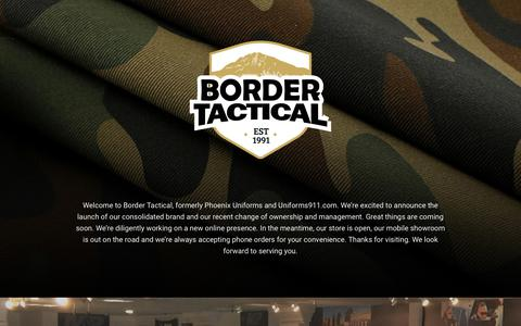 Screenshot of Home Page bordertactical.com - Border Tactical - captured Oct. 6, 2018