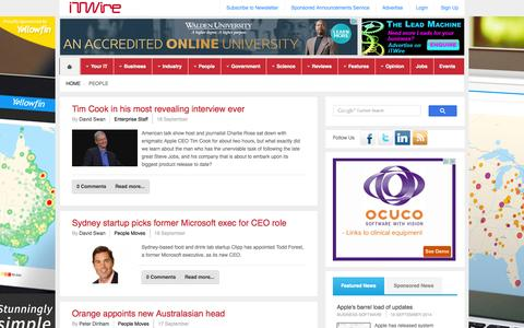 Screenshot of Team Page itwire.com - iTWire - IT People - Recruitment, Training and Enterprise News - captured Sept. 19, 2014