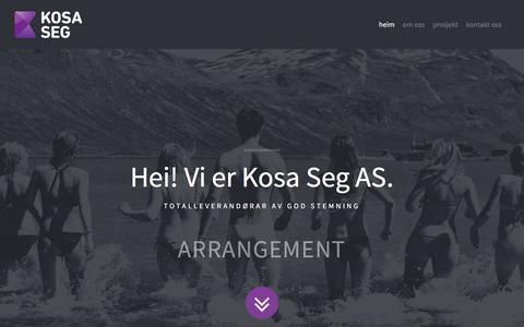 Screenshot of Home Page kosaseg.no - Kosa Seg AS - captured Feb. 12, 2016