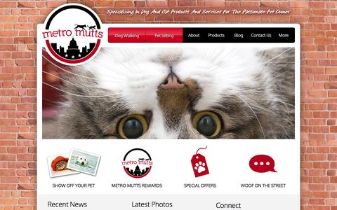Screenshot of Home Page metromuttsdc.com - Pet Supplies and Services, Capitol Hill DC | Metro Mutts - captured March 3, 2016