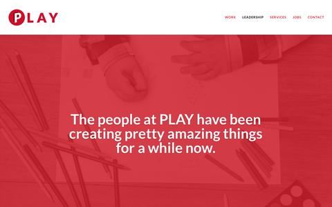 Screenshot of Team Page playadvertising.com - PLAY | A full service creative digital marketing agency - captured July 19, 2018