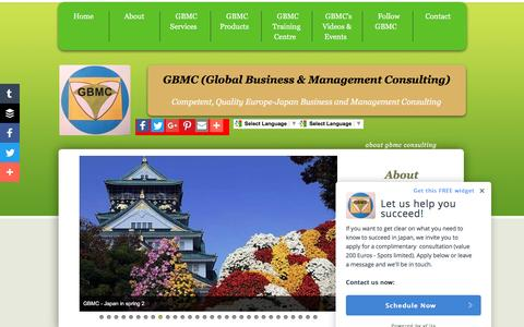 Screenshot of About Page gbmc.biz - About GBMC Consulting, Global Business Management Consulting - captured Oct. 5, 2016