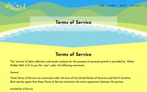 Screenshot of Terms Page yellowrubberball.com - Terms of Service | Yellow Rubber Ball - captured Feb. 2, 2018