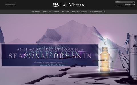 Screenshot of Home Page lemieuxcosmetics.com - Le Mieux Cosmetics - captured Jan. 26, 2015