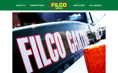 Screenshot of Jobs Page filcocarting.com - Job Opportunities — Filco Carting Corp - captured Aug. 13, 2018