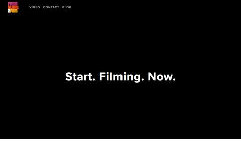 Screenshot of Home Page fromstarttofilm.com - From Start to Film - captured Oct. 14, 2017