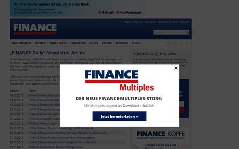 Newsletter-FINANCE Magazin