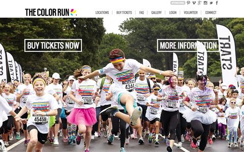 Screenshot of Home Page thecolorrun.com.au - Home - The Color Run � - captured Nov. 12, 2015