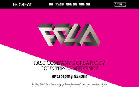 Screenshot of fastcompany.com - FC/LA - captured Aug. 20, 2016