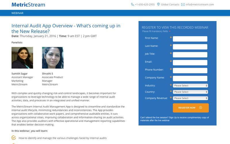 WEBINAR: Internal Audit Management App Overview
