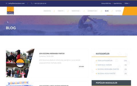 Screenshot of Blog kartacatour.com - Blog | Kartaca Turizm - captured Oct. 15, 2018