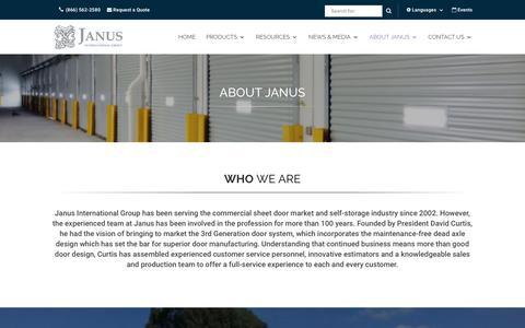 Screenshot of About Page janusintl.com - About Janus - Janus International Group - captured Aug. 13, 2017