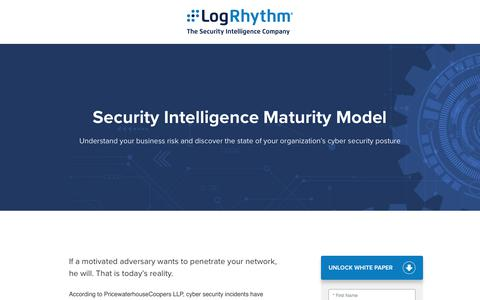 The Security Intelligence Maturity Model CISO | LogRhythm