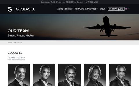 Screenshot of Team Page goodwill.fr - GOODWILL contact details - captured Dec. 13, 2018