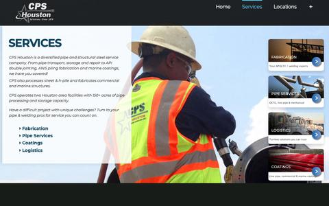 Screenshot of Services Page cpshouston.net - Services – CPS Houston - captured Oct. 21, 2018