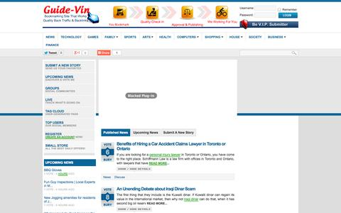 Screenshot of Press Page guide-vin.com - News | Published | Guide-Vin - captured Oct. 31, 2014