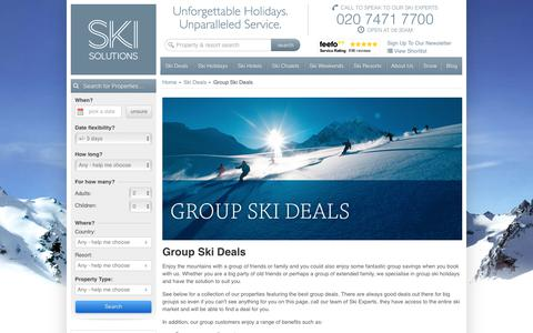 Group Ski Deals | Ski Solutions