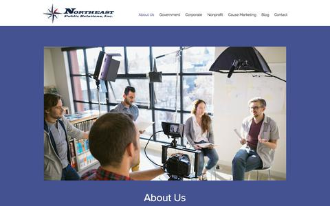 Screenshot of About Page northeastpr.com - About Us | Northeast Public Relations, Inc. - captured Oct. 22, 2017