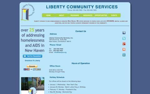 Screenshot of Contact Page Maps & Directions Page libertycs.org - Liberty Community Services - Contact - captured Oct. 2, 2014