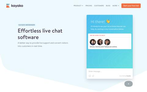 Live Chat Software | Help Desk Software from Kayako