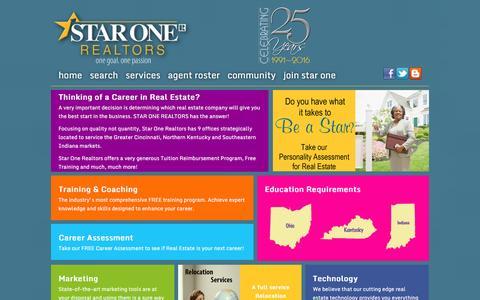 Screenshot of Jobs Page starone.com - Star One Realtors - captured Feb. 16, 2016