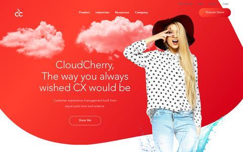 Screenshot of Home Page cloudcherry.com - Customer Experience Management Software | CloudCherry - captured Jan. 17, 2019