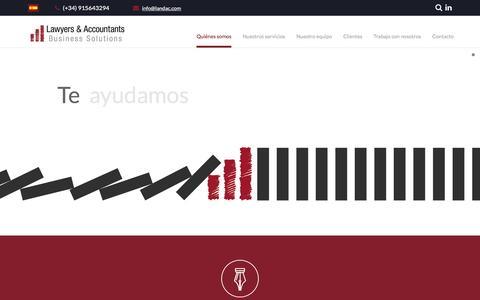 Screenshot of Home Page landac.com - Asesoría Internacional Madrid | Lawyers & Accountants - captured Jan. 27, 2017